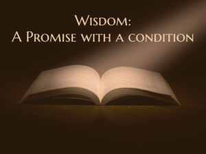 Wisdom - A Promise With a Condition